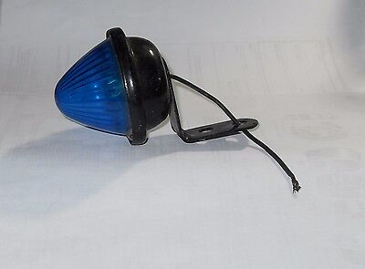 Blue Marker Light SAE-P-61 , PM110 ,Beehive Style Plastic Lens New Old Stock