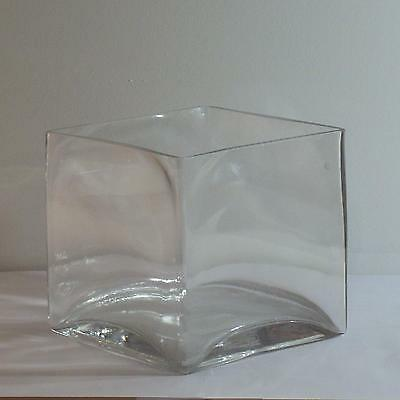 5x5x5 Square Glass Vase - Qty 12 - Wedding or Floral