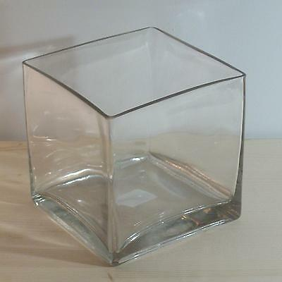 6x6x6 Square Glass Vase - Qty 6 - Wedding or Floral