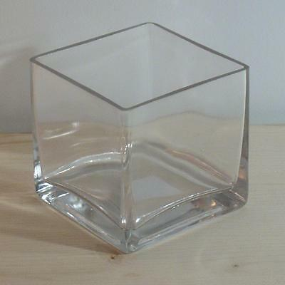 4x4x4 Square Glass Vase - Qty 12 - Wedding or Floral