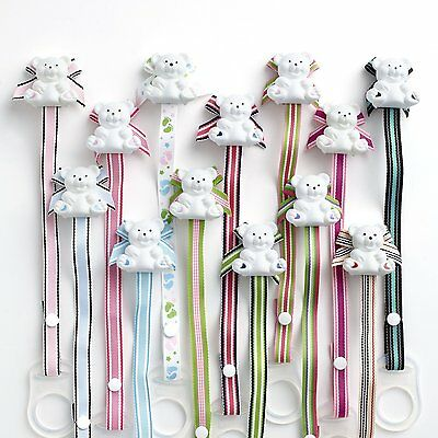 Baby Buddy Bear Universal Pacifier Holder Choose your color