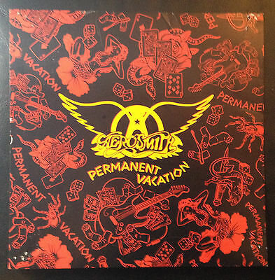AEROSMITH Permanent Vacation 12x12 promo poster flat 2sided Geffen
