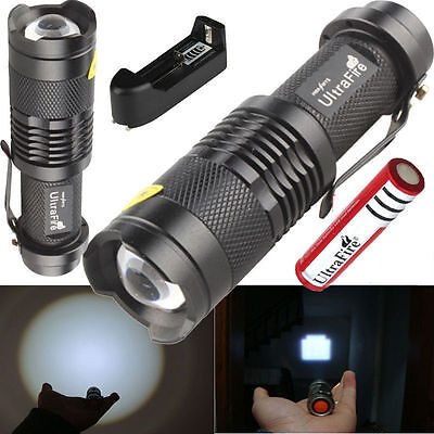 UltraFire 2000LM CREE XM-L T6 LED Flashlight Torch  18650 Battery Charger