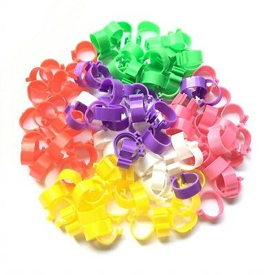 120PCS Poultry Leg Bands Bird Chicks Ducks Clip-on Rings 6 Colors