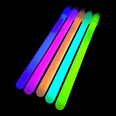 """200x 6"""" Inch Regular (10mm) Glow Sticks + Lanyards - Glowtopia For All Occasions"""