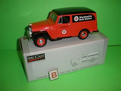 TEXACO Colwell OIL Company Liberty Classics 1953 WILLYS JEEP PANEL TRUCK 1:25 A