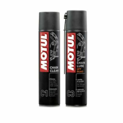 Motul Kit Pulizia Catena C1 Pulitore Clean+C3 Grasso Lube Spray Ktm Exc 250 F
