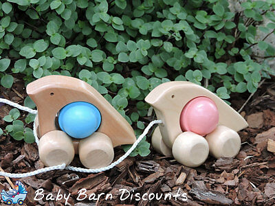 Discoveroo - Wooden Rattle n Roll Dove in Blue, Pink