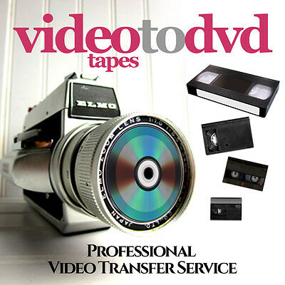 Video Tapes To Dvd Transfer Service - For All Video & Camcorder Formats
