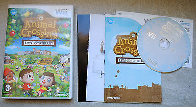Jeu ANIMAL CROSSING LET'S GO TO THE CITY pour Nintendo Wii PAL COMPLET (CD OK)