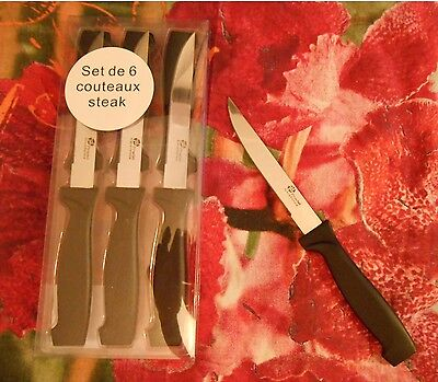 Lot de 6 Couteaux à Steak  - Pradel Excellence - en Inox -  NEUF