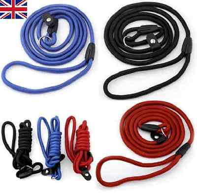 "54"" Strap Strong Nylon Rope Pet Dog Slip Training Leash 8mm Walking Lead Collar"