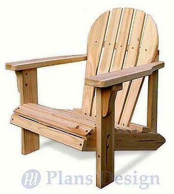 Child Adirondack Chair with Pattern Trace and Cut, Woodworking Plans #ODF21
