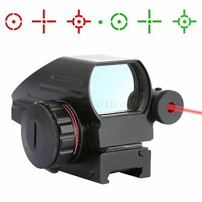 4 Reticles Red / Green Dot Holographic Scope w/ Red Laser Sight for 20mm Rail