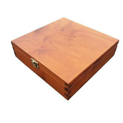 WOODEN BOX 23x23x6cm IN BROWN COLOR