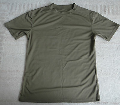 British Army Self wicking T shirt coolmax Walking Running Cadets Uniform Olive