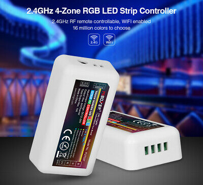 4 Zonen LED RGB Controller RF Touch Remote Dimmer 2,4GHz WLAN WiFi 2.4G MiLight