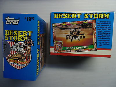 Topps Desert Storm Deluxe Factory Sealed Set 88 Glossy Cards 22 Stickers