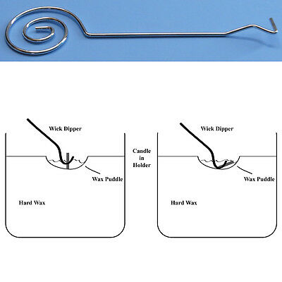 Stainless steel spiral Wick Dipper for extinguishing candles - smokeless snuffer