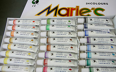 Artist Water Paints 12ml X24 assorted color -for professional water painting