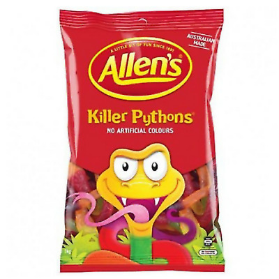 1 x Allens Killer Python 1 kg Lollies Bulk Party Favours Sweets Party Candy