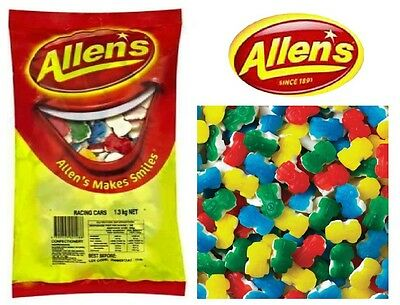 1 x Allens Racing Cars 1.3 kg Lollies Bulk Party Favours Sweets Party Candy