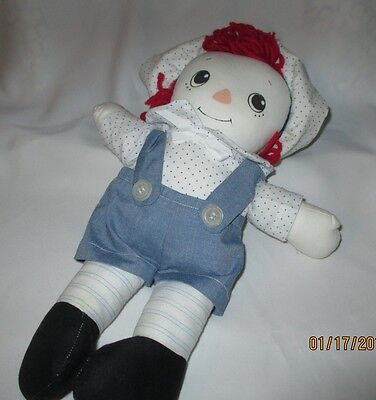 Hand Made Raggedy Andy Doll, Baby, Toddler,  12 inch