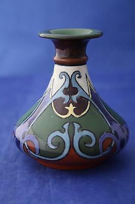 SHELLEY LATE FOLEY INTARSIO SMALL COMPRESSED BALUSTER VASE No. 3643