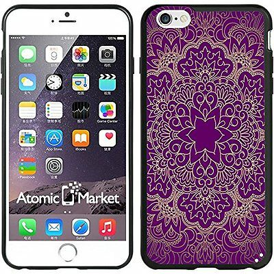 Purple Mandala Flower Pattern For Iphone 6 Plus 5.5 Inch Case Cover By Atomic Ma