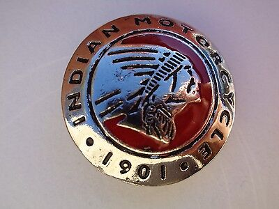 Indian Motorcycle Concho Screw On Chief Badges Classic Factory Scout Memorabilia