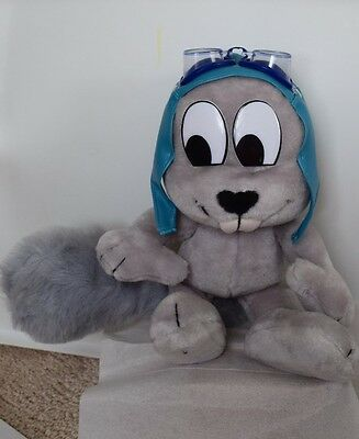 Rocky and Bullwinkle's Rocky the flying squirrel plush toy w/ plastic goggles
