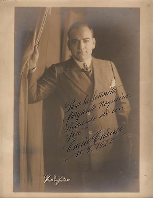 ENRICO CARUSO - HANDSIGNED Original PORTRAIT by Strauss Peyton - 1920