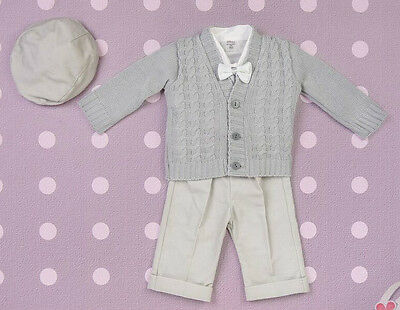 Baby Boy Christening Baptism Formal Smart Suit Outfit Wedding Warm Grey 0-18M