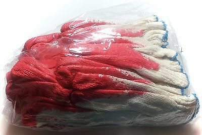 Red Latex Coated Working Glove 10-Pairs Pack