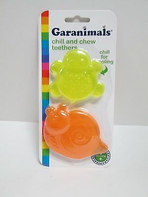 GARANIMALS CHILL AND CHEW TEETHER - 2 PK   3 Months + TEETHING TOY