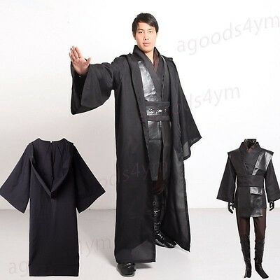Jedi Knight/Darth Vader Costume Star Wars Cloak Suit Set Halloween Cosplay HOT