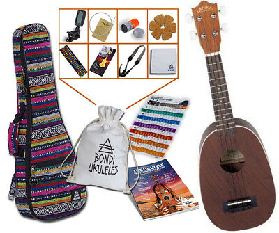Lanikai LU-21P Pineapple Soprano Ukulele Bundle LU21P - RRP $225.6 AWESOME DEAL!