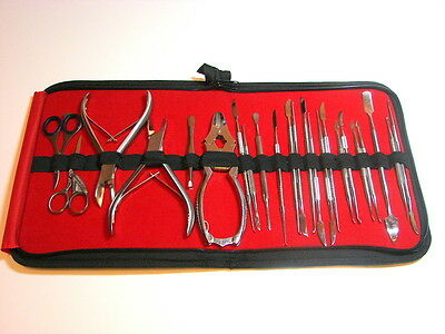 23 Pcs SET Chiropody Podiatry Nail Clippers Nippers Cutters Podiatry Instruments