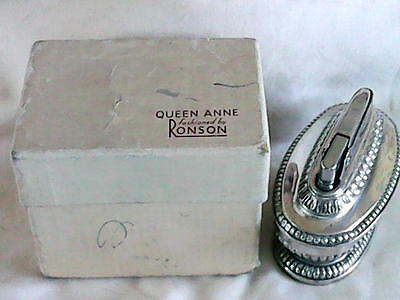 ★ L@@K ★- A NICE BOXED RONSON QUEEN ANNE PETROL TABLE LIGHTER - GWO