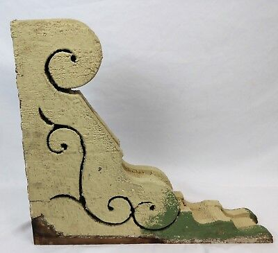 Victorian c1880s Large Wood Corbel Architectural Salvage Scrolled Hand Cut