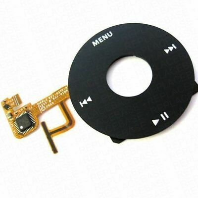 Replacement Click Wheel Button & Flex Cable For Apple iPod Video 5 5G 5th Black