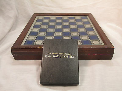 The Franklin Mint National Historical Society Civil War Pewter Chess Set 1984