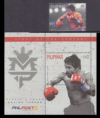 Philippines Stamps 2015 MNH Boxing Champ Manny Pacquaio complete set