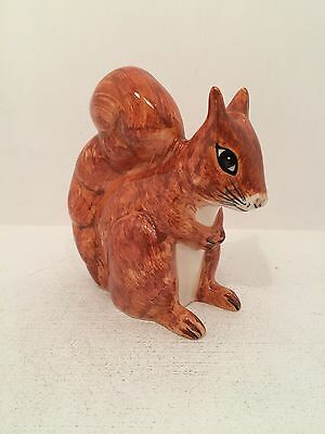 Babbacombe Pottery Red Squirrel Figurine Ornament Fully Stamped UK Hand Made