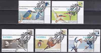 NAMIBIA - 2014 - Kingfishers. Complete Set of 5v. First Day Stamp