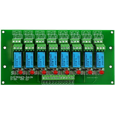 8 DPDT Signal Relay Module Board,for PIC Arduino 8051 AVR MCU,5/12/24VDC Version