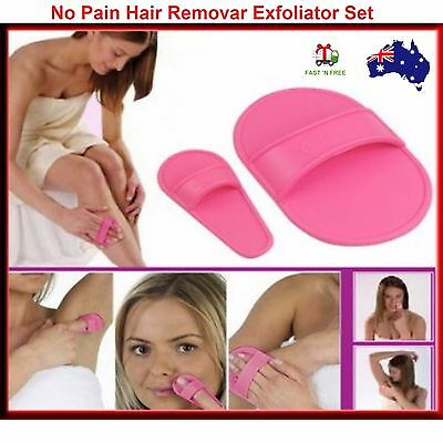 Hair Removal Set Smooth Legs Skin Face Upper Lip Arm Exfoliator Pads Remover