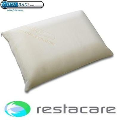 Restacare Deluxe Coolmax Memory Foam Pillow Single Or Pair With Travel Bag