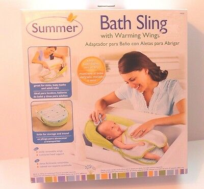 Summer Infant Bath Sling with Warming Wings Unisex Baby Bathing Aid NEW