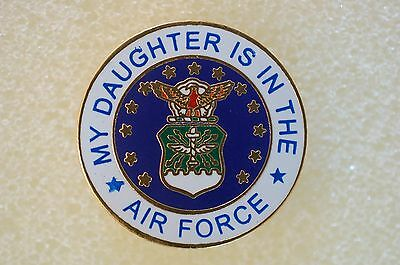 US USA USAF My Daughter Is In The Air Force Military Hat Lapel Pin